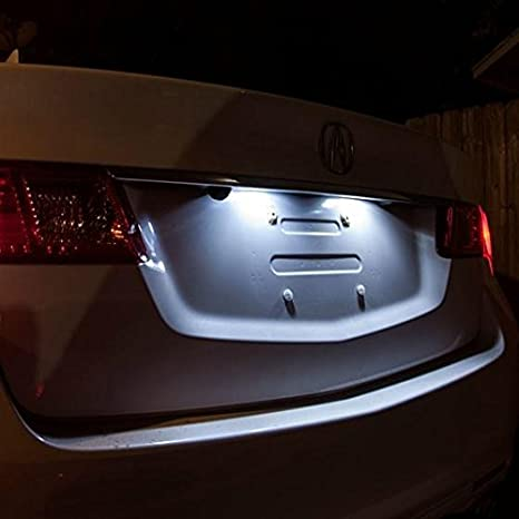 Partsam Honda Accord 2013 2014 2015 2016 White Interior LED Lights Package Kit (6 Pieces)
