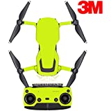 SopiGuard 3M Neon Yellow Precision Edge-to-Edge Coverage Vinyl Sticker Skin Controller 3 x Battery Wraps for DJI Mavic Air