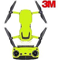 SopiGuard 3M Neon Yellow Precision Edge-to-Edge Coverage Vinyl Sticker Skin Controller 3 x Battery Wraps for DJI Mavic Air