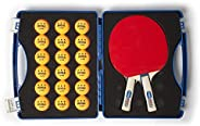 JOOLA Tour Carrying Case - Ping Pong Paddle Case with 18 40mm 3 Star Competition Ping Pong Balls and Space for