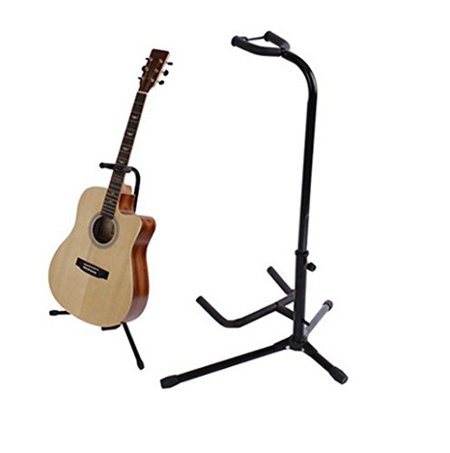 Guitar Stand Tubular Acoustic Guitar Stand Folding Tripod Holder Padded Storage Rack Duo Double Guitar Stand
