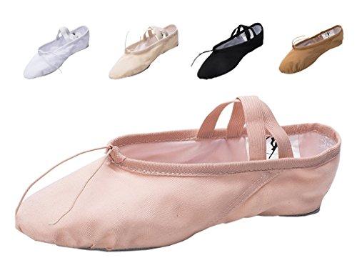 adult split sole ballet shoes - 8