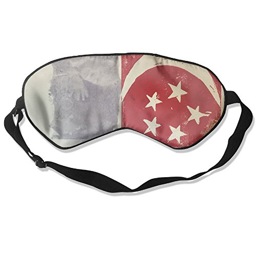 Longnankejilifeaa Sleep Eyes Mask Covers Singapore Flag Moon Silk Sleeping Blindfold Fashionable Adjustable Strap Eyeshade For Travelling Shift Work Night Noon Nap (Singapore Cartoon Costume)