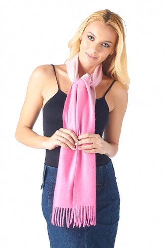 High Style 100% Cashmere Men and Women Gradation Dyed Scarf (98092, Pink Gradation) by High Style