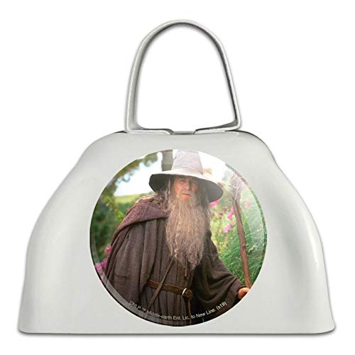 The Lord of the Rings Gandalf the Grey Character White Metal Cowbell Cow Bell Instrument (Lord Of The Rings In Concert Usa)