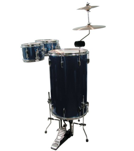 GP Percussion GP75MB Cocktail Drum Set (Midnight Blue)
