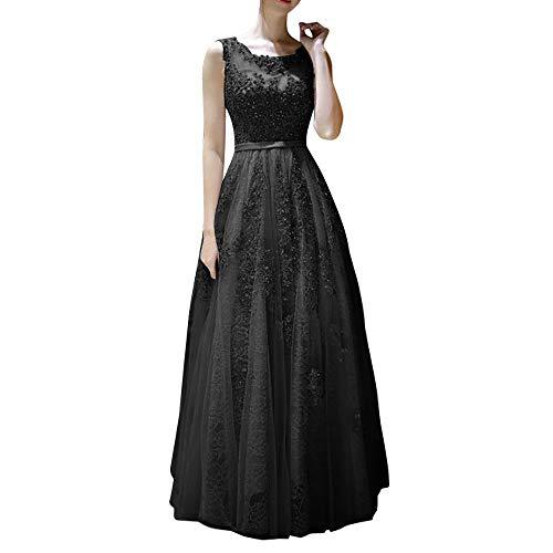 A Abendkleider Silber Kleider Promkleider Damen Marie Linie La Bodenlang Spitze Hundkragen Braut Schwarz Abiballkleider q46gFzwTx