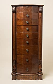 Amazoncom Mahogany Jewelry Armoire by Coaster Furniture Kitchen