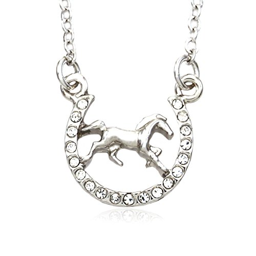 Soulbreezecollection-Horse-Mustang-Pony-Horseshoe-Necklace-Pendant-Lucky-Charm-Western-Cowboy-Cowgirl