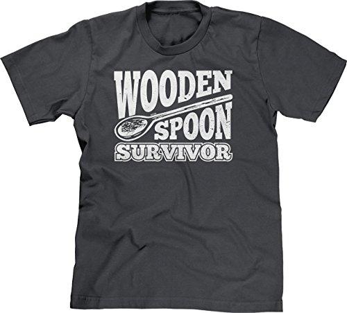 - Blittzen Mens Wooden Spoon Survivor, L, Charcoal