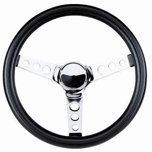 (Empi 79-4112 Poly-Foam Steering Wheel, Chrome 3 Spoke 12-1/2