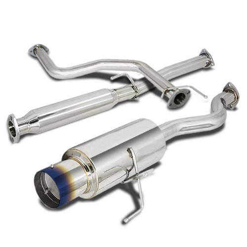 For Acura Integra RS/GS/LS 4 inches Burnt Tip Stainless Steel Catback Exhaust System