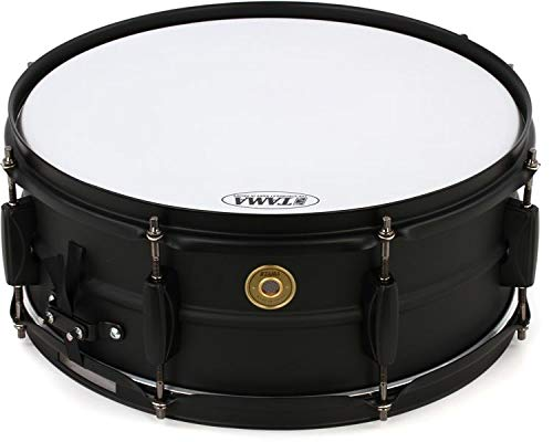 Tama Steel Snare Drum - 5.5 Inches X 14 Inches - Black Black by Tama