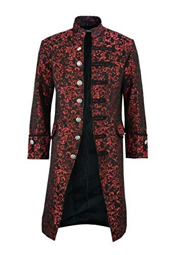 Darkrock Mens Jacket Velvet Goth Steampunk Victorian Frock