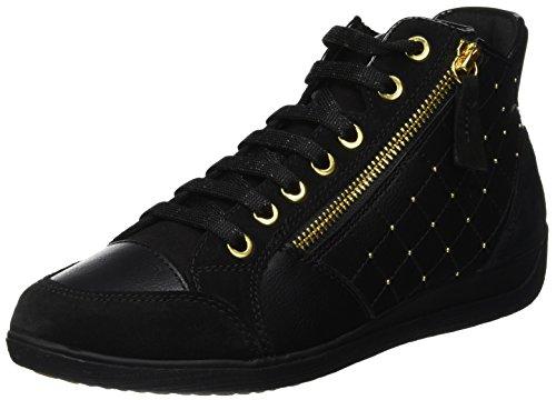 Mesdames Geox D C Myria Haute Noir De Chaussure (noir C9999)
