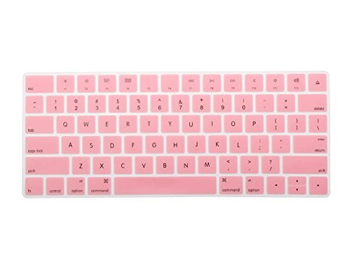 COOSKINSilicone Colorful Keyboard Cover Protective Skin for Apple Magic Keyboard (MLA22LL/A), After 2015 November US Layout (Pink)