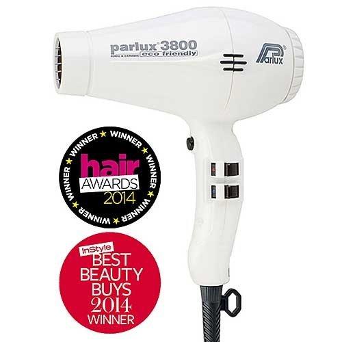 Parlux 3800 Ceramic Ionic Hair Dryer - White