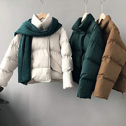 Dames En Manteau Gris Droit Col Coton De D'hiver La Sauvage À Coréenne Version Lâche Xwh Mode qwOIaHfxx