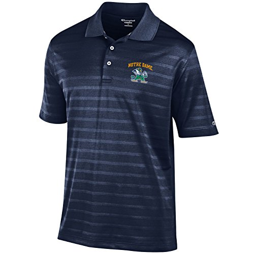 NCAA Champion Men's Textured Solid Polo, Notre Dame Fighting Irish, XX-Large ()
