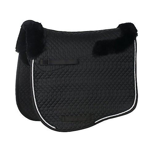 Union Hill Dressage Pad (Lettia Sheepskin Dressage Pad Black)