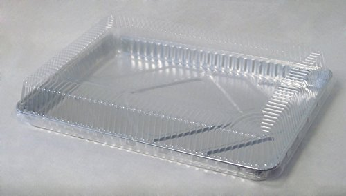 Durable Packaging Plastic Dome Lid for Half-Sheet Pan (Pack of 100)