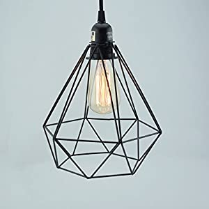 fantado geometric diamond vintage edison light bulb cage for pendant lights by cage only