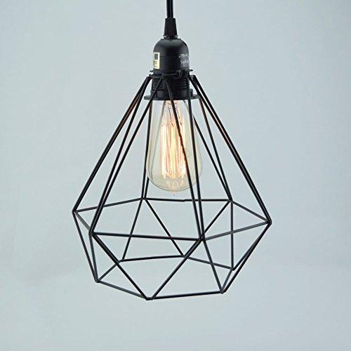 Fantado Geometric Diamond Vintage Edison Light Bulb Cage for Pendant Lights by PaperLanternStore (Diamond Cage Light)