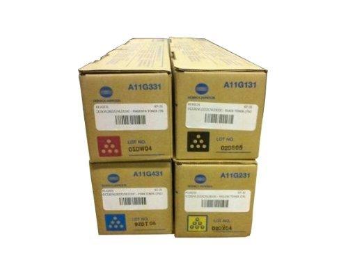 Konica Minolta Part # TN-216C, TN-216K, TN-216M, TN-216Y OEM Toner Cartridge Set from Bizhub C280