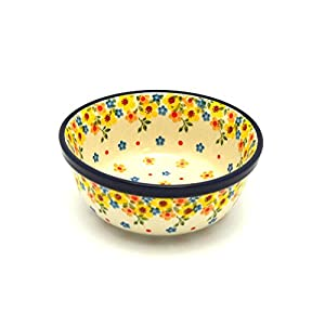 Polish Pottery Bowl – Soup and Salad – Buttercup
