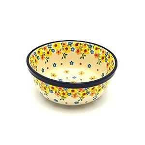 Polish Pottery Bowl – Soup and Salad – Buttercup