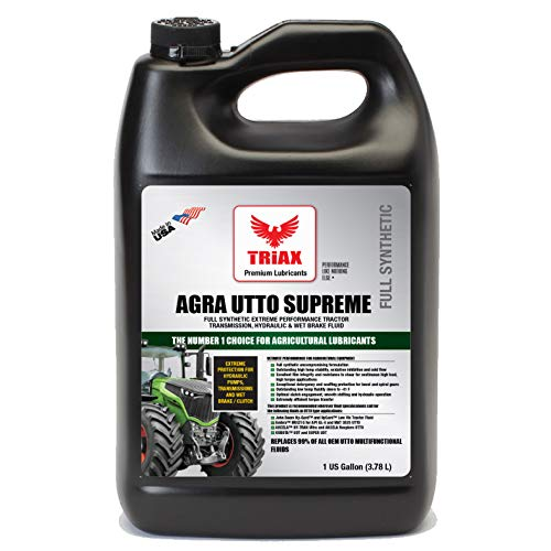 (Triax Agra UTTO Supreme - Full Synthetic Tractor Hydraulic, Transmission & Wet Brake Oil, All Season Formulation - Replaces 99% of OEM Tractor Fluids (1 Gallon (Pack of 1)))