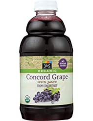 365 Everyday Value, Organic 100% Juice from Concentrate, Concord Grape, 32 fl oz