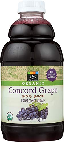 365 Everyday Value, Organic 100% Juice from Concentrate, Concord Grape, 32 fl oz (Grape Fruit Juice Concentrate)