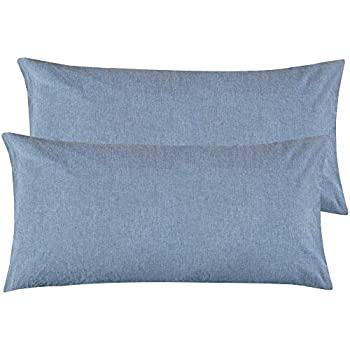 Amazon Com Ntbay Washed Cotton King Size Pillowcases 2