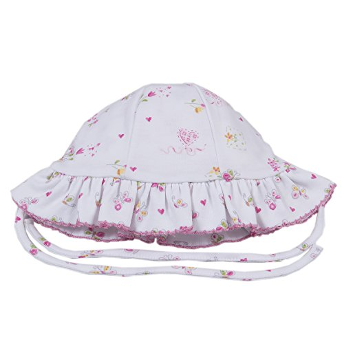 Kissy Kissy Baby Girls Fairy Garden Reversible Floppy Hat-Medium ()