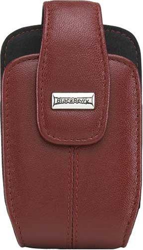 Sensor Blackberry Holster Proximity - BlackBerry Leather Swivel Holster for BlackBerry 8300, 8310, 8320, 8330 (Apple Red)