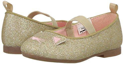 OshKosh B'Gosh Girls' Meow Glitter Cat Ballet Flat, Gold, 7 M US Toddler - Image 6