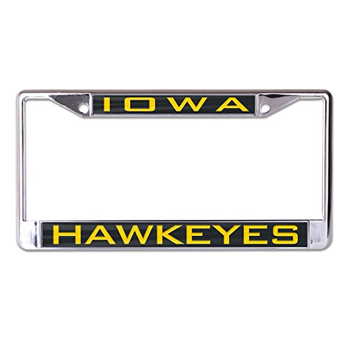 Wincraft NCAA Iowa Hawkeyes Inlaid Metal License Plate Frame, 2-Tag Corners