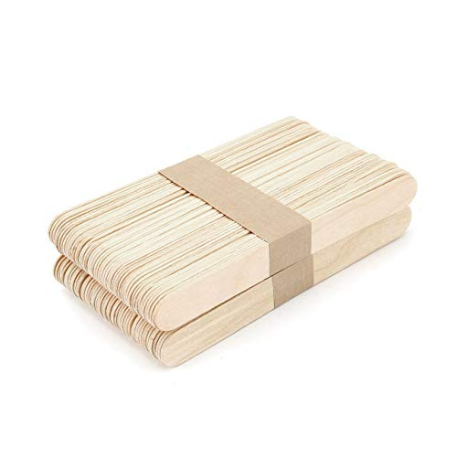 Liobaba 100pcs/set Wooden Tongue Depressor Waxing Wax Spatula Disposable Bamboo Sticks Medical Stick Beauty Health Tool