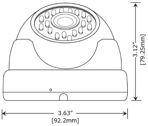 Amview Vandalproof 1300TVL 24 IR LEDs 3.6mm Lens Wide Angle View Aluminum Dome Security Camera