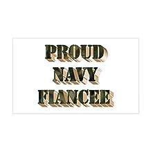 CafePress - Navy Fiancee Rectangle Sticker - Rectangle Bumper Sticker Car Decal
