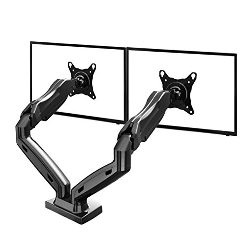 Cusfull Dual Monitor Mount LCD arm Full Motion Desk mounts for 17'-27' Computer Monitor -11 Pounds