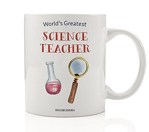 Science Teacher Gifts Coffee Mug World's Greatest Science Teacher Scientific Tutor Elementary Middle High School Instructor Christmas Thank You Present from Student 11oz Ceramic Cup Digibuddha DM0307
