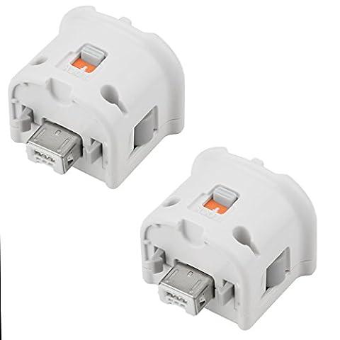 REDGO 2X Motion Plus Adapter Sensor for Nintendo Wii Wii U Remote Controller White - Sensor Controller