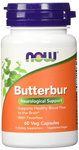 Now Foods, Pestwurz mit Mutterkraut x60Vcaps - Butterbur with Feverfew
