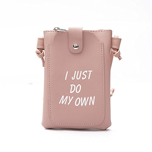 Ms Mobile Green Casual Phone Bag Shoulder PU Pink Color FangYOU1314 Messenger Bag EUFvCqCYw