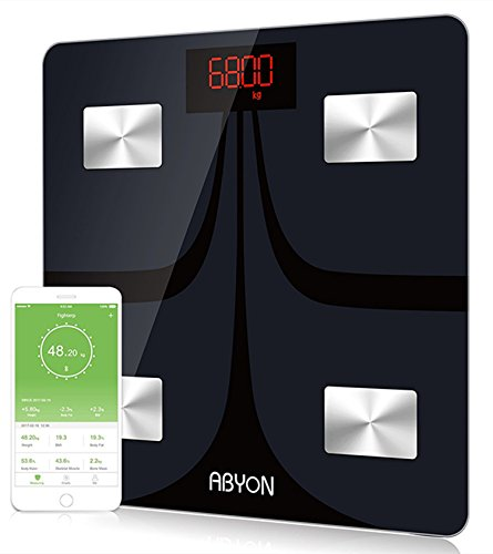 ABYON Bluetooth Scales Digital Weight and Body Fat Scale - Body Composition Analyzer with Cell Phone APP- Wireless Digital Bathroom Smart BMI Scale,396 lbs