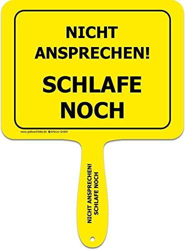 Gelbe Schilder - Divertido cartel de plástico con mango ...