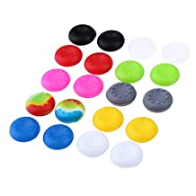 WinnerEco 20pcs Multi-colored Rubber Silicone Replacement Thumb Stick Cover Cap for PS4 PS3 PS2 XBOX 360 ONE Controller