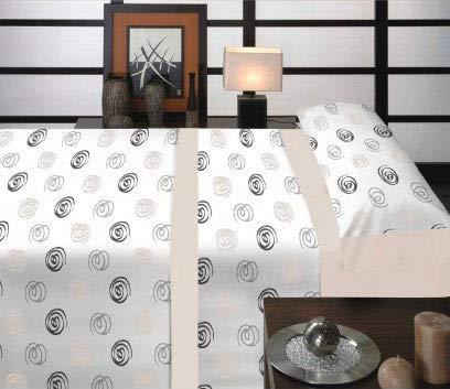 Casa Ydeal Store Juego de Sábanas Espirales 50% algodón 50% poliéster (90cm,
